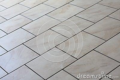 Tan floor tiles
