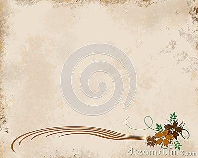 Tan Grunge Floral