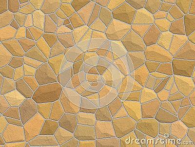 Tan Stone Wall