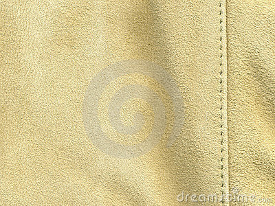 Tan suede with stitching