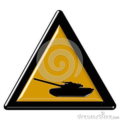 Tan warning sign