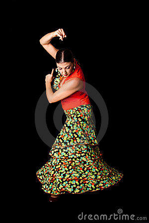 Tancerza Flamenco Spanish Obraz Royalty Free - Obraz: 11366826