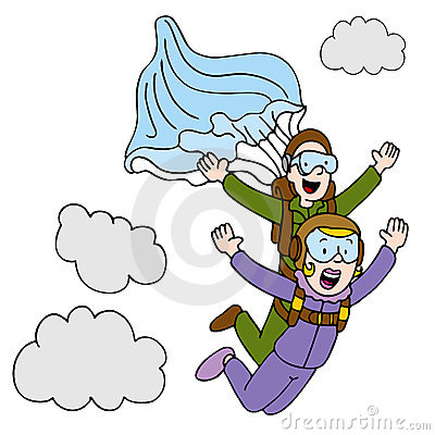 Tandem Sky Diving Woman