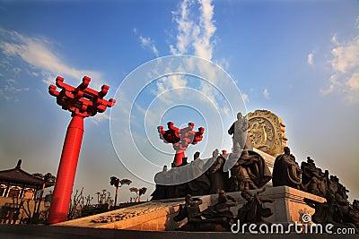 Tang dynasty statue xian china