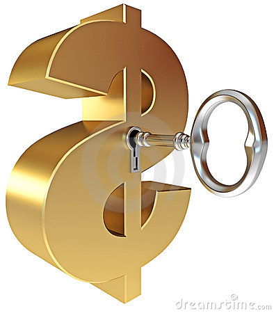 Tangenten öppnar ett dollartecken