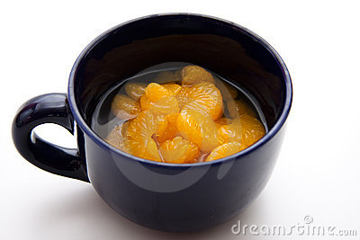 Tangerine in the cup