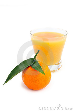 Tangerine and juice