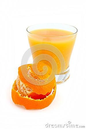 Tangerine and juice