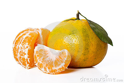 Tangerine and slices