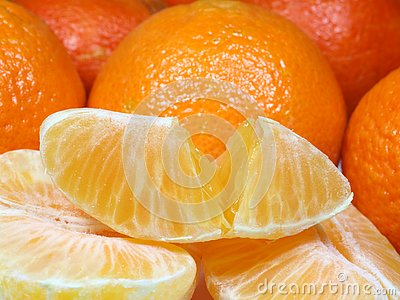 Tangerines close up