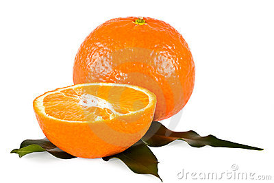 Tangerines, juicy isolated close up