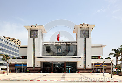 Tangier main train station, Morocco Editorial Image