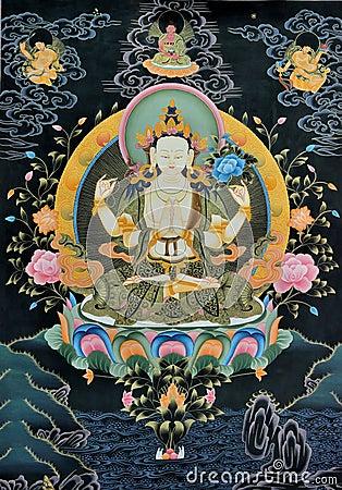 Free Tangka, Tibet Traditional Art Stock Image - 34326951