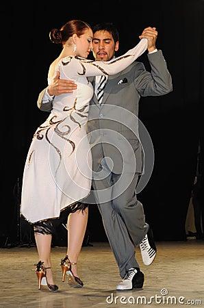 Tango dancers Editorial Stock Image