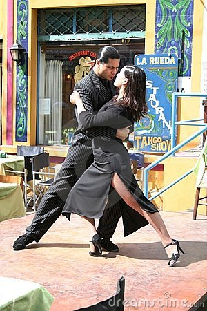 Tango Dancers in La Boca Buenos Aires Argentina Editorial Photography