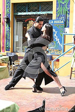 Tango Dancers in La Boca Buenos Aires Argentina Editorial Photography