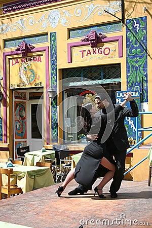Tango Dancers in La Boca Buenos Aires Argentina Editorial Stock Image