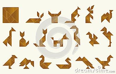 Tangram, fauna - cdr format