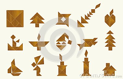 Tangram, various - cdr format