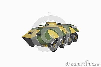 Tank armored troop-carrier