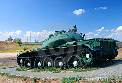 Tank In An Attack Royalty Free Stock Photo - Image: 12768875