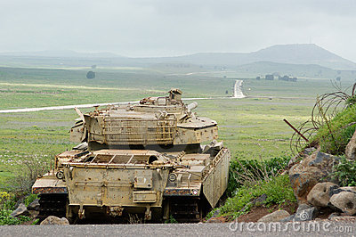 Tank at the Golan Heights