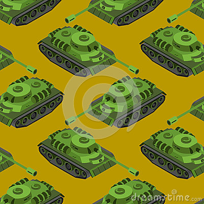 Free Tank Isometric Seamless Pattern. Army Machinery Texture. Armored Stock Image - 74489601