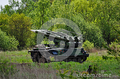 Tank with missiles