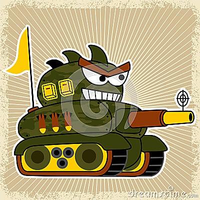 Free Tank Robot Cartoon With Big Cannon Royalty Free Stock Photos - 109063548