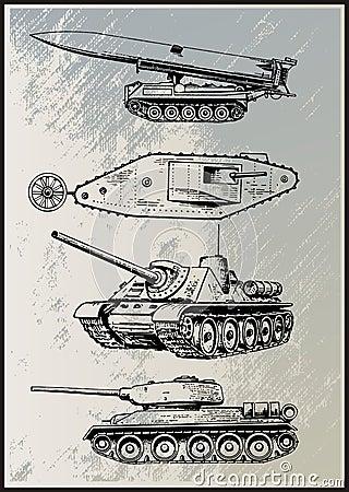 Tank Vector Set