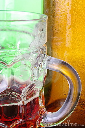 Tankard and bottles of beer