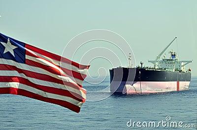 Tanker crude oil carrier ship
