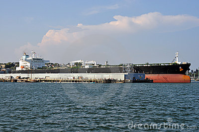 Tanker at the dock