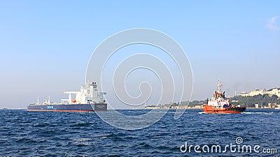 Tanker ship convoy Editorial Photo