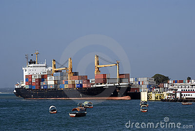 Tanker, Stone Town, Zanzibar, Tanzania Editorial Stock Image
