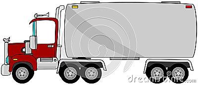 Tankfartyget åker lastbil