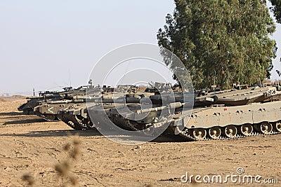 Tanks in Desert