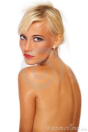 Tanned blonde