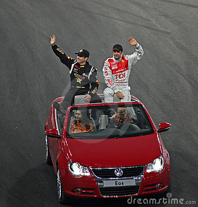 Tanner Foust (USA) and Emanuele Pirro (ITA) Editorial Photography