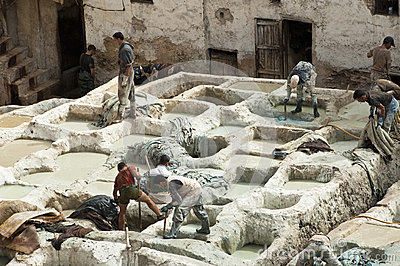Tanneries of Fes, Morocco Editorial Stock Image