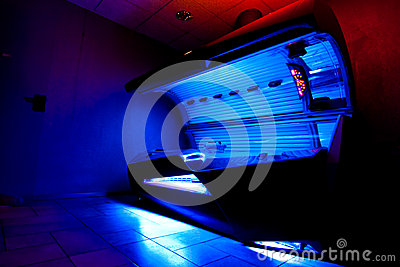 Tanning bed at solarium studio