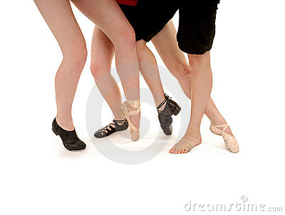Tanz-Fahrwerkbeine und Arten