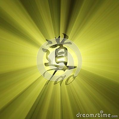 Tao character symbol light flare