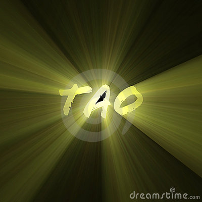 Tao word shining sun light flare
