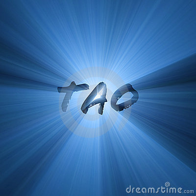 Tao word symbol shining light flare