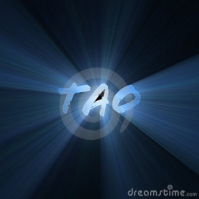 Tao word symbol light flare