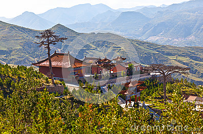 Taoist temple in the Mountain Hengshan(Northern Great Mountain).