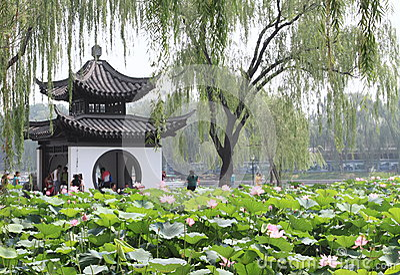 Taoranting park in Beijing Editorial Stock Photo