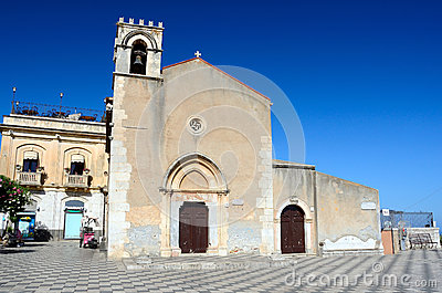 Taormina Church of Saint Augustine, Sicily