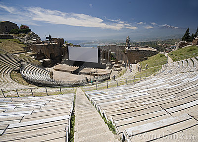 Taormina greek-roman theater
